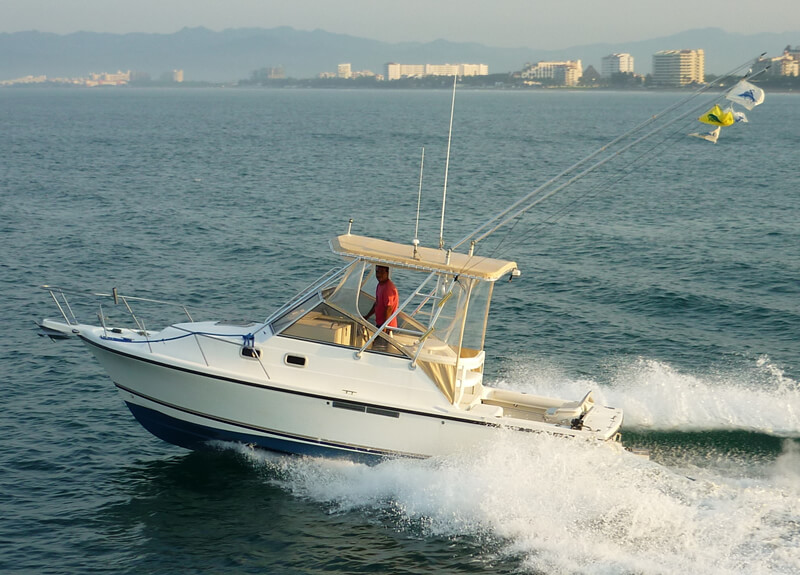 Fishing boat shamrock 26 ft for rent in puerto vallarta for Fishing puerto vallarta